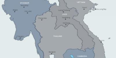 Laosin Kartta Kartat Laos Kaakkois Aasia Aasia